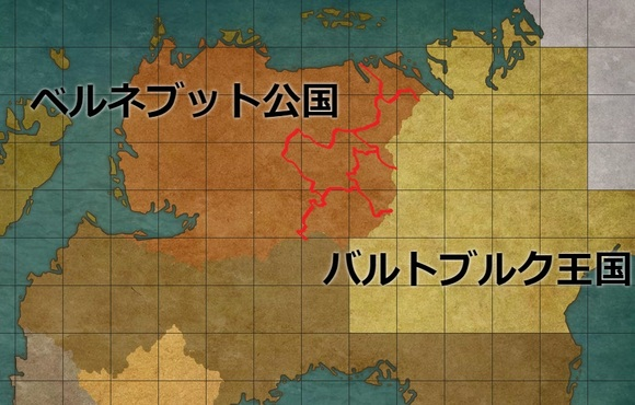 ヴァルムシュタット条約による割譲地図