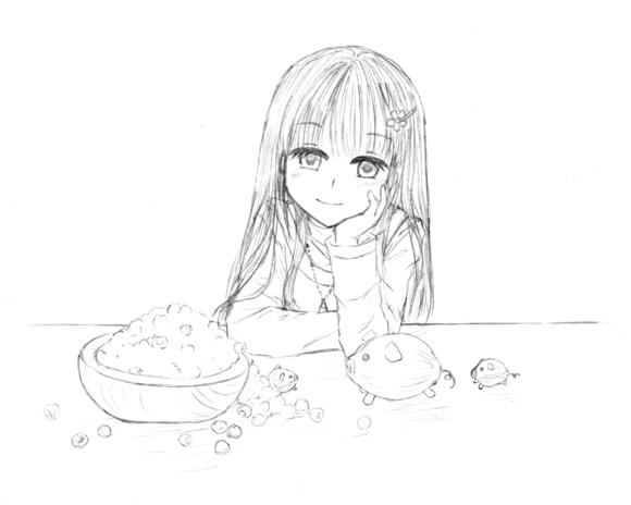 お弁当イメージ3――下書き