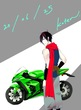 才蔵とバイク