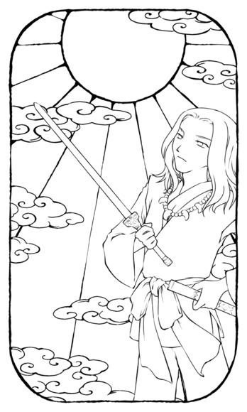 【線×色Ⅲ】線画01(和風なヒト そのいち)