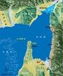 古代大阪周辺地図(河内湖)