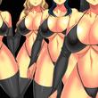 合成素材用、巨乳女戦闘員(乳首あり)