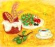 オリーブの実のある食卓