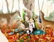 10月*鹿と紅葉(途中)。
