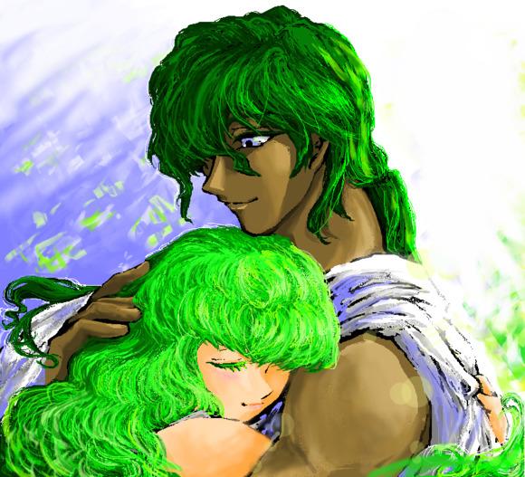 迎春はいとしき緑に包まれて