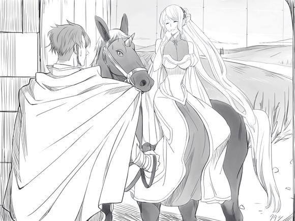 辺境の老騎士 若き日の騎士と姫君と愛馬