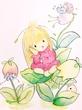 妖精の女の子と花の妖精