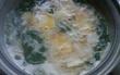 お豆腐、卵、えのきだけ、シソなべ