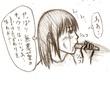 キュウリを食べる妹