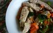 鶏ささみ(岩塩、オレガノ、水寝かせて蒸したもの)とピーマンのしそ
