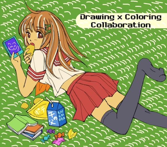【線画×彩色】なんごくピヨーコさんの線画に色塗り!