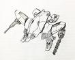 ご当地戦機 イバラギア   長野のご当地ロボ「GVFN」