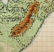 オークの大王: 第2話 ヘルベ地方周辺図