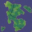 サザーランド共和国及び周辺国マップ