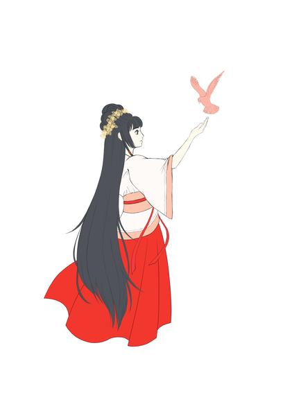 紅鳥ちゃん(ベタ塗り)