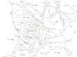 フェルガナ周辺国地図