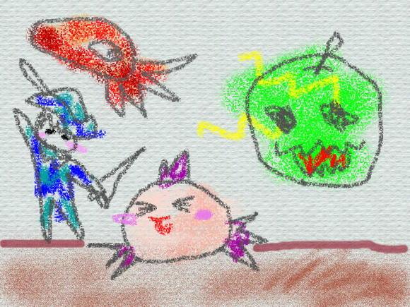 『みずうみのうみの船』4話の挿絵(絵日記)