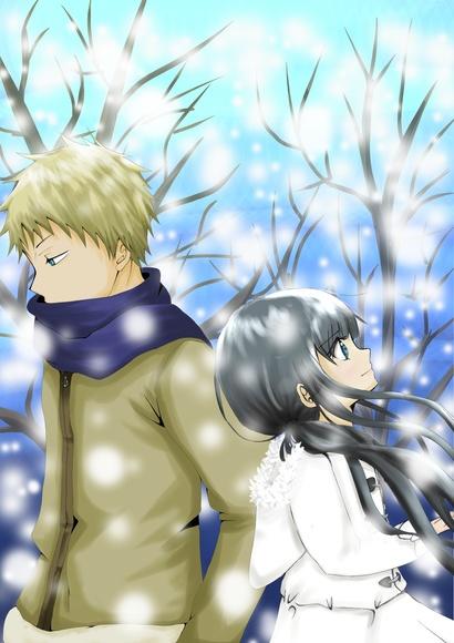 雪に咲く花1
