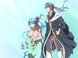「魔王は夢を語る」魔王リヤン(右)女神ルシス(左)