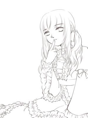 【線×色】線画02(ロリな子)