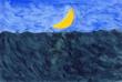 三日月の海