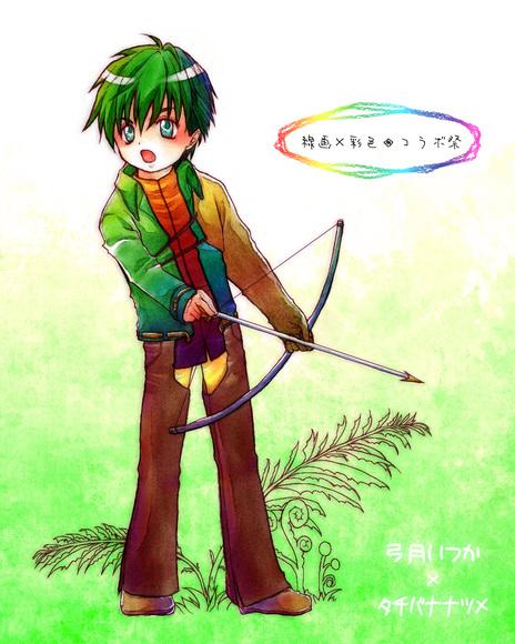 【線画×彩色◆コラボ祭】弓月いつかさんの線画とコラボ♪