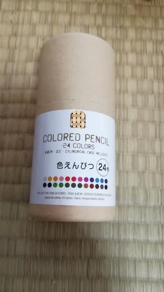 使った色鉛筆(100円ショップ)