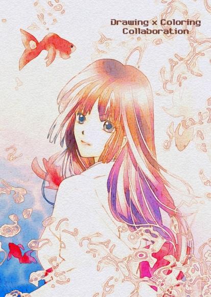 【線画×彩色◆コラボ祭Ⅳ】hiyori様 線画