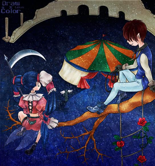 【線×色Ⅲ】→(mさまの線画)