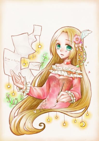 【線×色Ⅲ】線画2* お手紙(雪解つる木さまの線画)