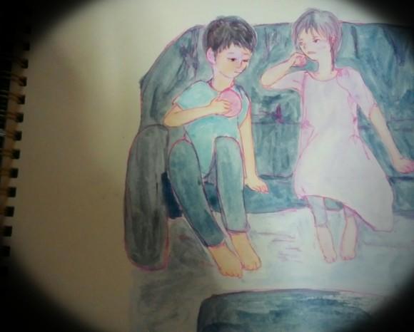 弐逸 玖 様へのファンイラストです。<(_ _)>