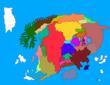 小国の王  オレバス大陸地図