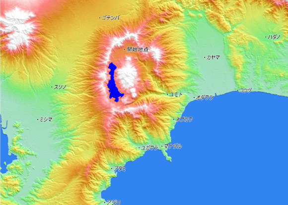 ファンタジー日本はSLGなのにRPG 地図